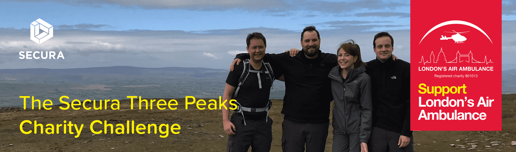 Three Peaks Charity Challenge Training Weekend Hiking for London's Air Ambulance
