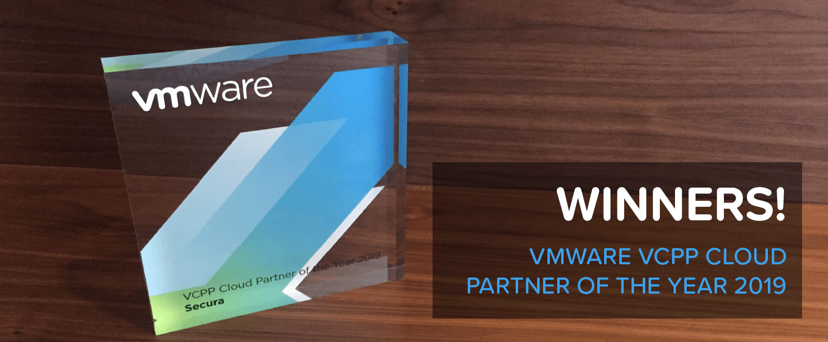 Secura Win the VMware VCPP Cloud Provider of the Year Award 2019