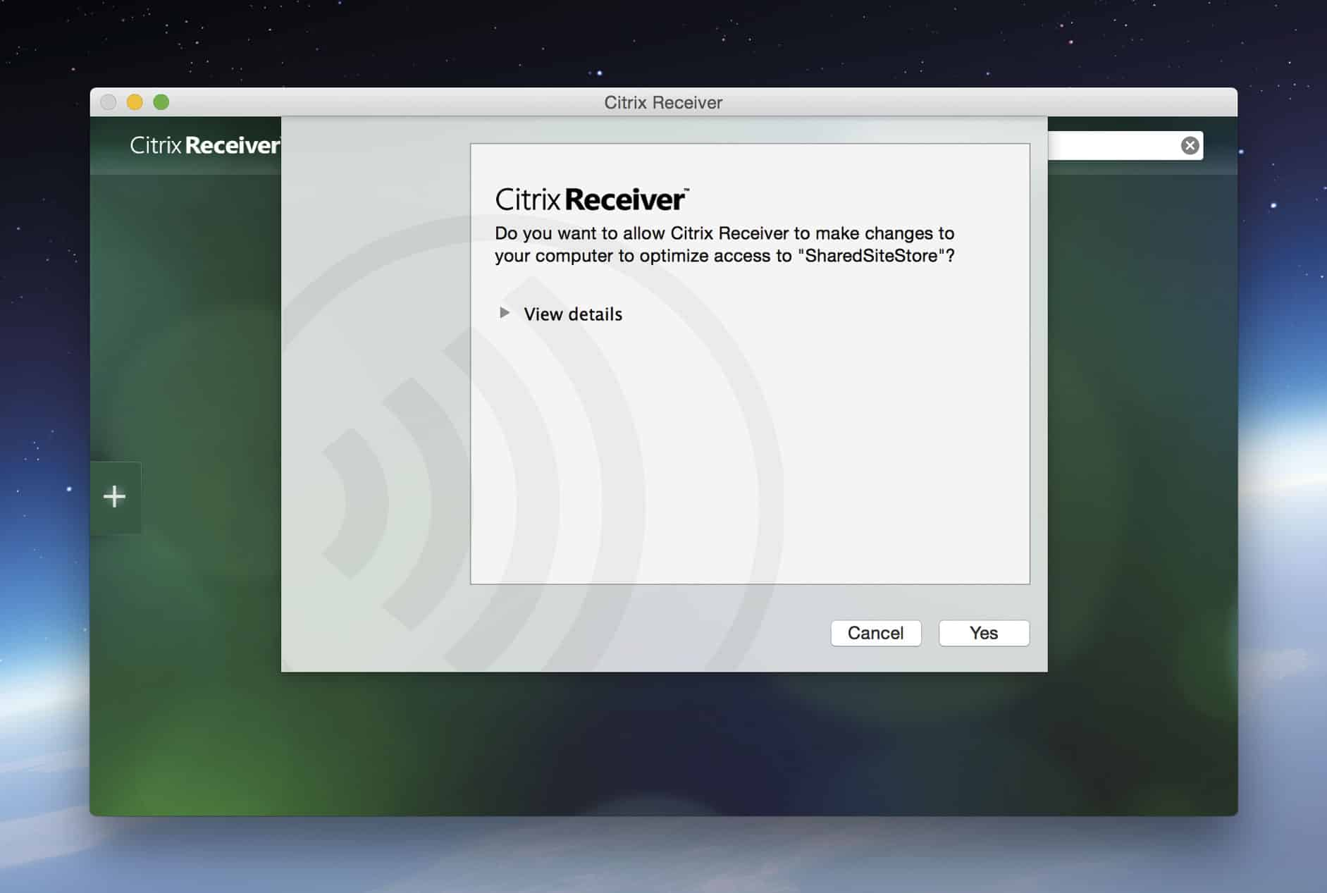 Allow Citrix to Make Changes to Your Mac
