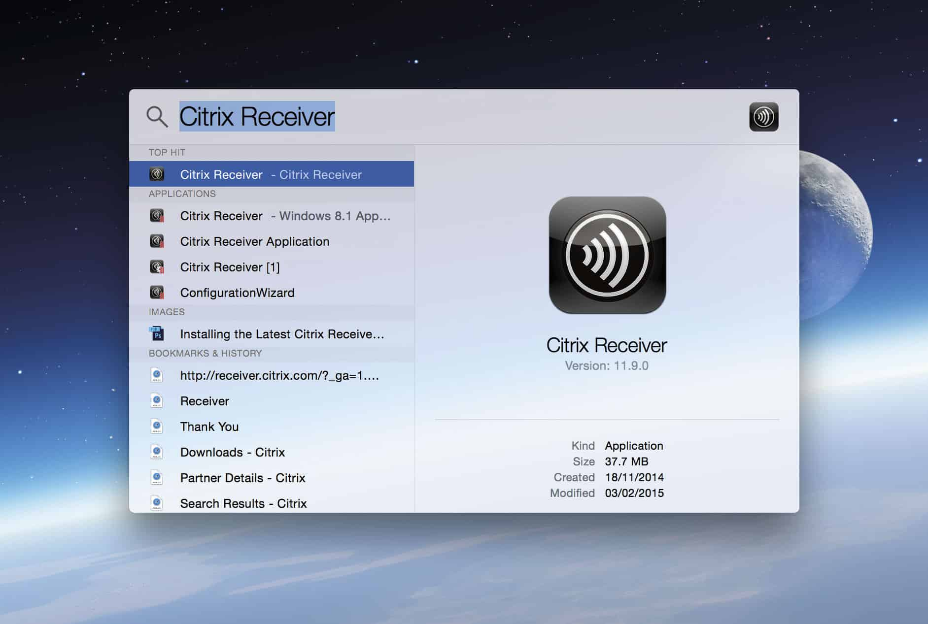 Install the Citrix Receiver and Open